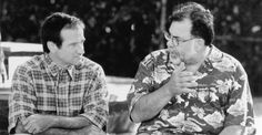 """Robin Williams and Francis Ford Coppola talk on the set of """"Jack"""", 1996. Robin Williams, Scene Photo, Picture Photo, Francis Ford Coppola, Bill Cosby, Diane Lane, I Miss Him, 24 Years, Classic Hollywood"""