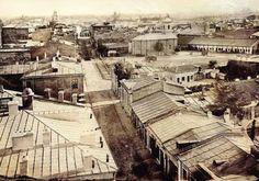 Carol Popp de Szathmary - Coltei (Colta) lane (Bratianu boulevard nowadays) in 1864 Bucharest Romania, Timeline Photos, Close Image, Bulgaria, Time Travel, Poland, Paris Skyline, Past, Street View