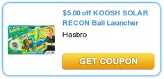 $5.00 off KOOSH SOLAR RECON Ball Launcher