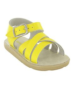 Another great find on #zulily! Yellow & Pink Taffy Sandal by Jumping Jacks #zulilyfinds