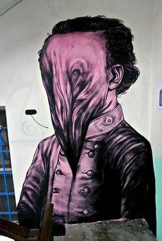 James Kalinda new mural in Parma, Italy