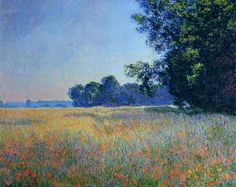 Oat and Poppy Field, Giverny, 1890 - Claude Monet