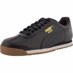 Puma - Men's Roma Basic Sneaker - Black/Gum