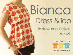 Bianca Dress & Top - Made by Rae - PDF pattern