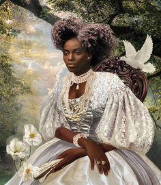 la reine noire - Limited Edition of 30 Photograph Black Girl Art, Black Women Art, Black Art, Black Girl Magic, Art Girl, Black Girls, Black Girl Aesthetic, Aesthetic Art, Mileena