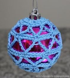 Stitches and Sanity: Free Pattern: Crochet Christmas Bauble #5