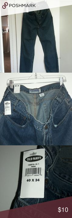 Jeans (men's Old Navy) These are men's blue jeans new with tags from Old Navy. The size is 40 x 34. Old Navy Jeans Relaxed