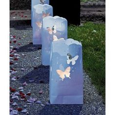 Butterfly luminaries for the dance floor!