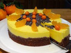 Tarta Mousse de Mandarina con base de galletas con nueces - La Cocina de...