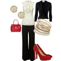 love me some ruffles and bling and pop of red