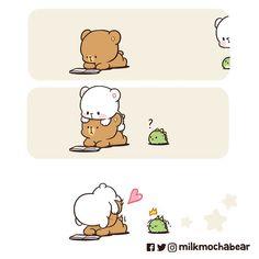 Cute Couple Cartoon, Cute Cartoon Pictures, Cute Love Cartoons, Cute Bear Drawings, Cute Cartoon Drawings, Kawaii Drawings, You Are My Moon, Cute Love Gif, Cute Panda