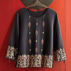 Indonesian Batik-inspired Shirt.. on sale..
