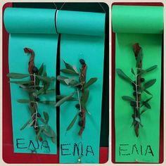 Κλαδί ελιάς Autumn Crafts, Olive Tree, Olives, Classroom, Class Room