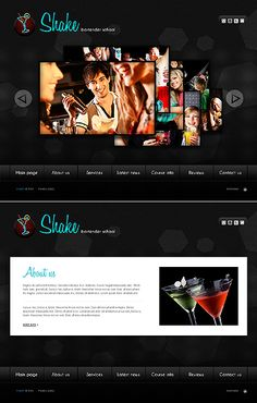 Shake Bartender Flash Templates by Di School Website Templates, Flash Templates, Drupal, Cooking School, Bartender, Shake, Smoothie, Cocktail