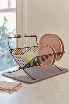 Umbra Xdry Folding Dish Rack + Mat | Urban Outfitters