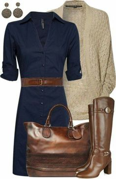 #stitchfix - Love this dress and belt! Have the boots to go with it:)