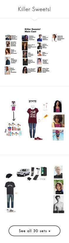 """Killer Sweets!"" by nerdyredd ❤ liked on Polyvore featuring art, Ace, Samsung, Vaseline, NYX, Disney, Glitzy Rocks, Caslon, NIKE and plus size clothing"