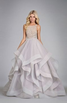 High Neck Princess/Ball Gown Wedding Dress  with Natural Waist in Tulle. Bridal Gown Style Number:33101437