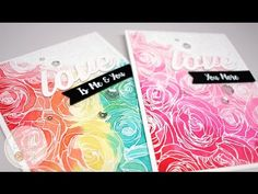 MFT Roses All Over Background. YouTube. I love the idea of doing a rainbow colored background. These are very pretty.