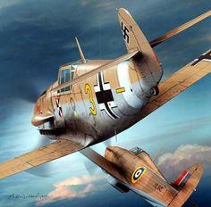 Luftwaffe Messerschmitt Bf 109 v. Ww2 Aircraft, Fighter Aircraft, Military Aircraft, Fighter Jets, Luftwaffe, Hawker Hurricane, Military Drawings, Focke Wulf, War Thunder
