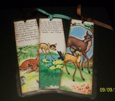 Set of 3 Vintage Bambi Bookmarks by ScrapHappyMama on Etsy, $6.95