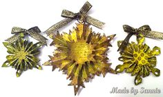 Made by Sannie: Snowflake Ornaments using TH snowflake rosette, Dec. 2012