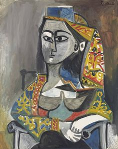 https://flic.kr/p/25fbd3i | Pablo Picasso - Woman in Turkish Costume in a Chair [1955] | [Christie's, London - Oil on canvas, 92 x 73 cm]