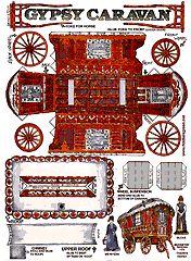 Gypsy Caravan Paper Model...