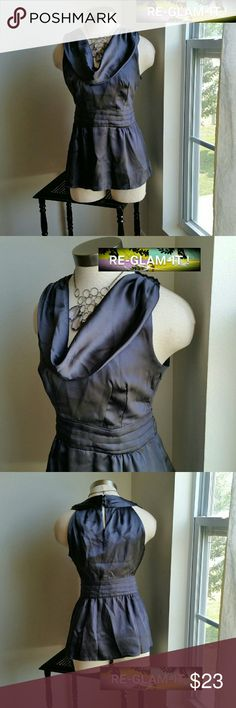 BANANA REPUBLIC. ....BEAUTIFUL SILK ...TOP ....ADDING INFO SOON....EXCELLENT CONDITION  ....NORMAL WEAR...NO FLAWS. ...LOOSE FEEL ....4 PIC SHOWS TRUE COLOR.... .....COLOR....IS LIKE A ...GRAYISH METALLIC  GREEN.. Banana Republic Tops Blouses