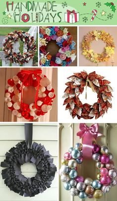 Christmas wreaths. And this website has a TON of Christmas craft tutorials/ideas!