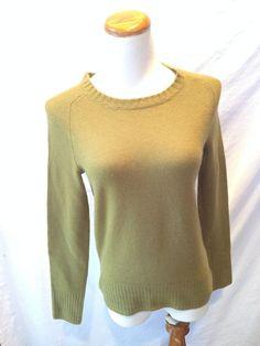 J. CREW olive green CASHMERE crewneck Sweater XS NEW NWT #JCrew #Crewneck #cashmere