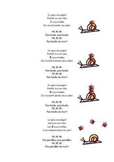 poésie escargot coccinnelle