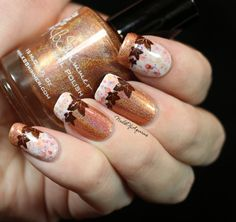 """Spice Latte: French Tip Nail Art feat. KBShimmer Pinned from : """"Pumpkin Spice Latte"""" French Tip Nail Art feat. KB ShimmerPinned from : """"Pumpkin Spice Latte"""" French Tip Nail Art feat. Fall Nail Art Designs, Nail Polish Designs, Gel Polish, Nail Art Hacks, French Tip Nail Art, Nagel Hacks, Thanksgiving Nail Art, Seasonal Nails, Manicure Y Pedicure"""