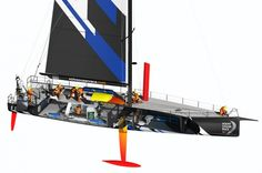 Volvo Ocean Race: Das Design des Volvo Open 70 wird erklärt – Tom Anderson – Join in the world Volvo Ocean Race, Yacht Design, Boat Design, Toms, Volvo Cars, Courses, Wind Turbine, Sailing, Yachts