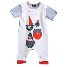 bonjour! boat character romper by corby tindersticks | notonthehighstreet.com