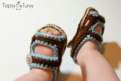 crochet-baby-sandals-finished by imtopsyturvy.com, via Flickr