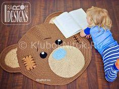 Ravelry: Classic Bear Crochet Rug Mat Nursery Carpet PDF Pattern pattern by Ira Rott Carpet Crochet, Crochet Home, Crochet For Kids, Knit Crochet, Double Crochet, Single Crochet, Bear Nursery, Nursery Rugs, Crab Stitch
