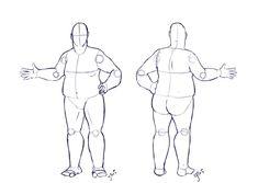 Fat Costume Design Base - Commission by IllustratedJai on DeviantArt Male Figure Drawing, Body Reference Drawing, Body Drawing, Drawing Base, Art Reference, Figure Reference, Fashion Sketch Template, Costume Design Sketch, Croquis Poses