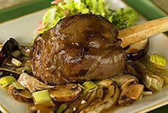 Soy-Braised Australian Lamb Shanks with Asian Slaw | #lambshank #aussielamb www.australian-lamb.com