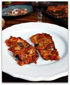 A Sunday in the Country: The summer hit: eggplant Parmigiana Pizza Lasagna, Lasagna Rolls, Plat Vegan, Diet Recipes, Healthy Recipes, Tandoori Chicken, Entrees, Brunch, Veggies