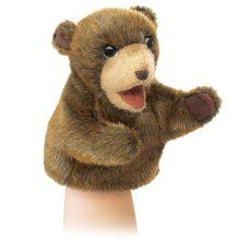 Folkmanis Little Bear Hand Puppet, Brown. Available at OurPamperedHome.com