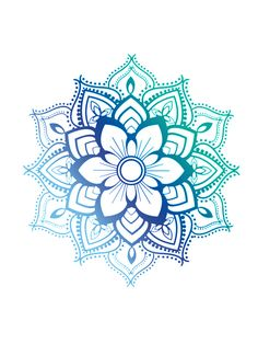 a geometric figure representing the universe in Hindu and Buddhist symbolism Blue Mandala by adjsr