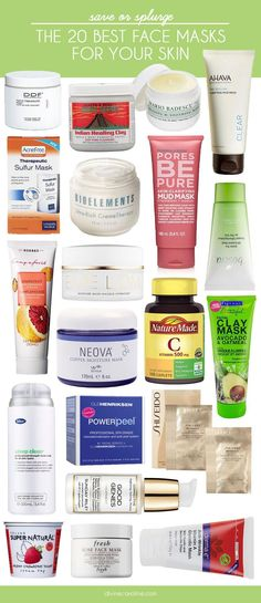 or Splurge: The 20 Best Face Masks for Your Skin Banish your skincare concerns with the best face masks for your skin.Banish your skincare concerns with the best face masks for your skin. At Home Face Mask, Best Face Mask, Face Masks, Best Masks For Acne, Skin Tips, Skin Care Tips, Skin Secrets, Beauty Care, Beauty Hacks