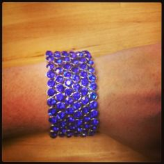 Blue Stones Stretch Bracelet $25