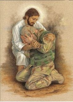 No caption is needed....Jesus holds our unsung hero.  He understands the depth of that despair.  Praise Him always