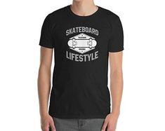 Skateboard T Shirt Distressed Skateboard Lifestyle Shirt, skateboard t shirts, skateboarding tees, skateboard apparel Skateboard Shirts, T Shirts, Mens Tops, Shopping, Fashion, Tee Shirts, Moda, Fashion Styles, T Shirt