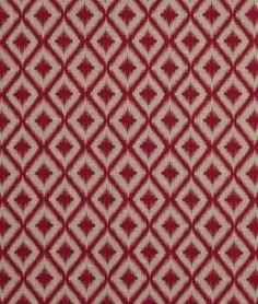 Robert Allen @ Home Ikat Fret Raspberry - $21.75 | onlinefabricstore.net
