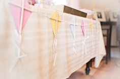 Kite Garland for Dessert Table at a Kite-Themed Kids Party