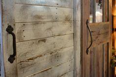 Gliding barn wood door inspiration. #BarnwoodRustics #BarnwoodDoors #ReclaimedWood #HomeDecor #ElegantRustic