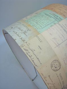 vintage french postcards lampshade by rosie's vintage lampshades   notonthehighstreet.com